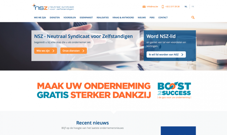 Screenshot van www.nsz.be